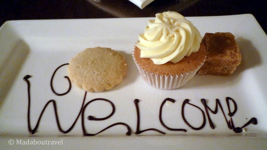 Welcome treats at the Kingsmills Hotel in Inverness