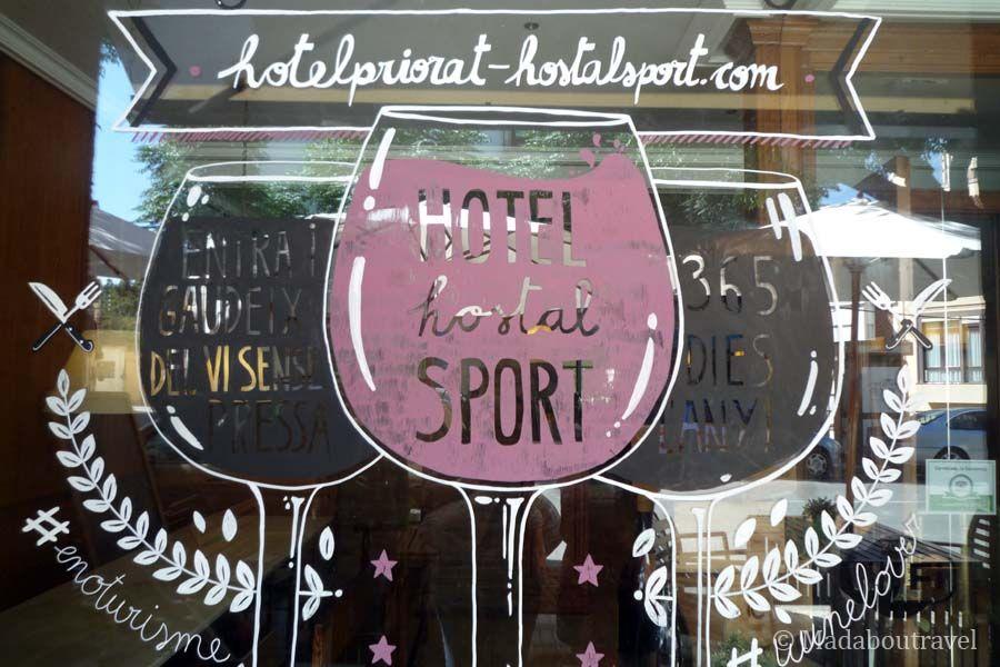 Precioso dibujo en el Hotel Hostal Sport de Falset