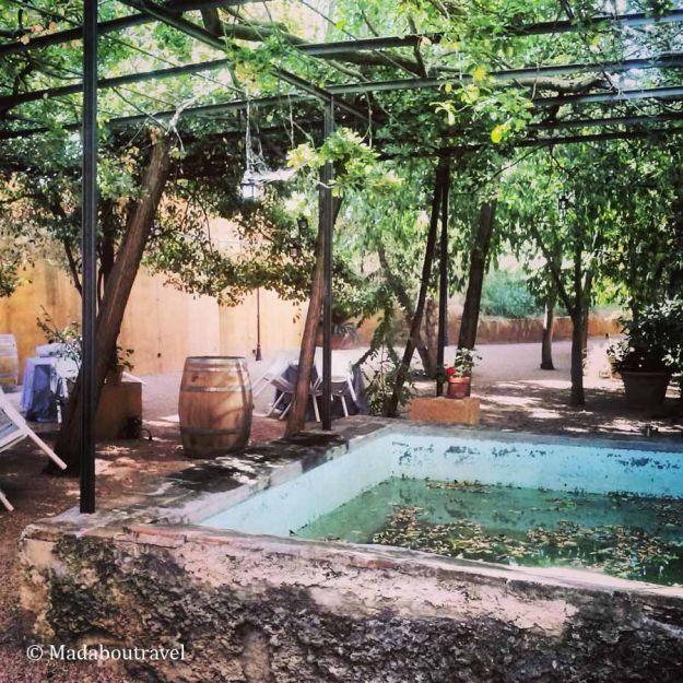 Jardín privado del Hostal Sport