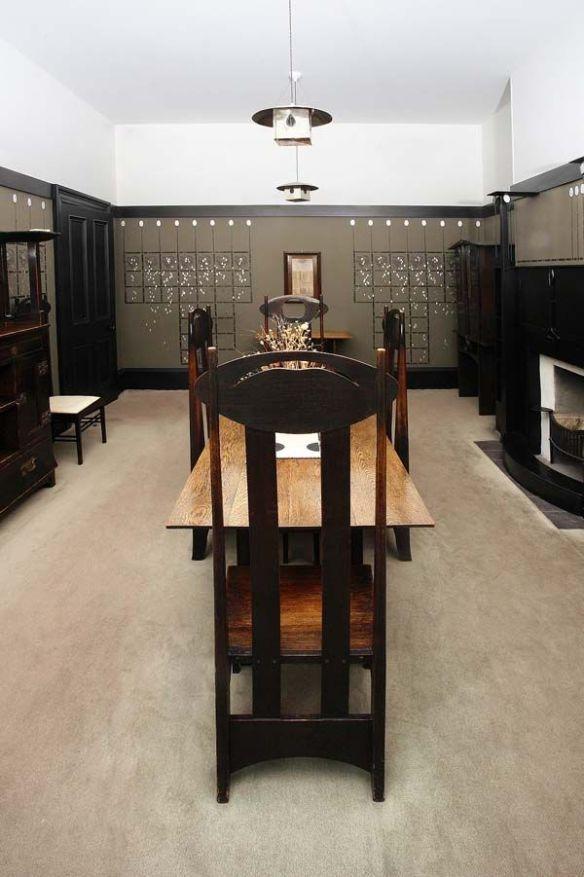 El comedor de la casa de Mackintosh © The Hunterian, University of Glasgow 2012