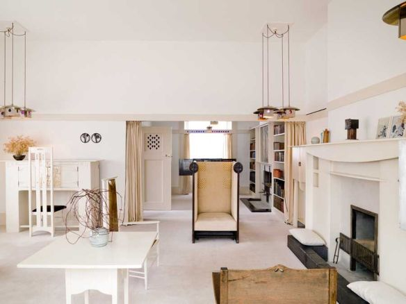 El estudio en casa de Mackintosh © The Hunterian, University of Glasgow 2012