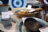 Cerámica y utensilios de cocina hechos a mano en el mercado de Navidad de Hopetoun Place