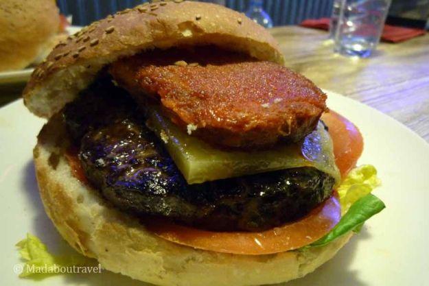 Hamburguesa en Sherry Burger en Esterri d'Àneu
