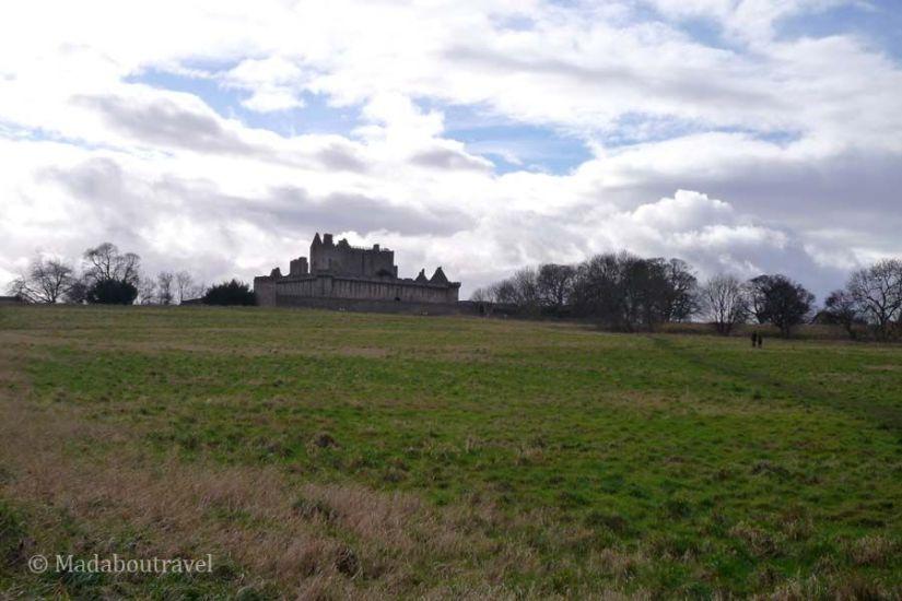 Llegando al castillo de Craigmillar
