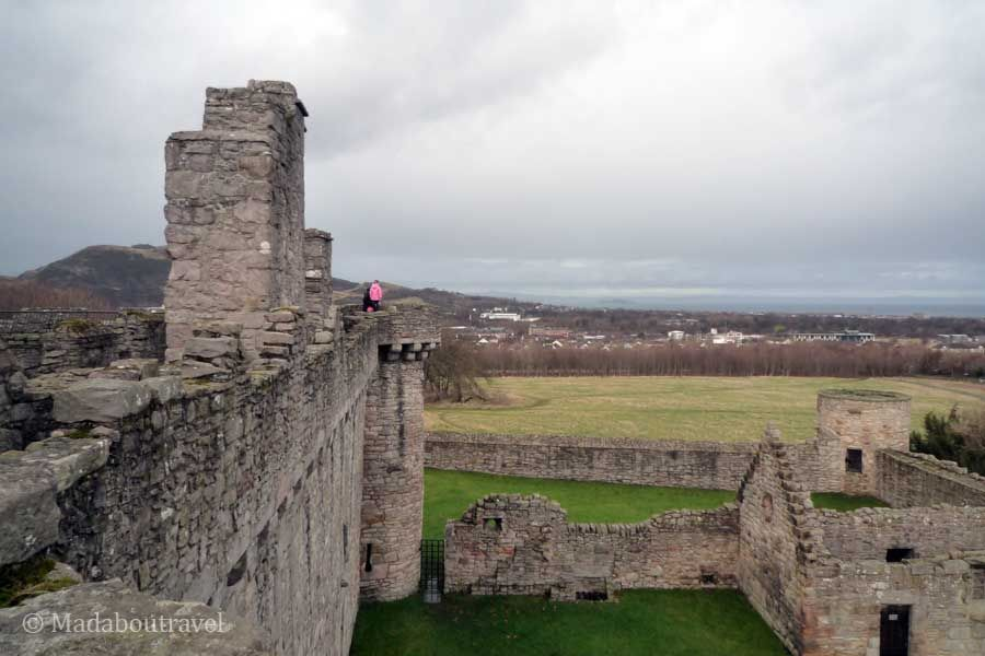 Vistas increíbles desde el castillo de Craigmillar