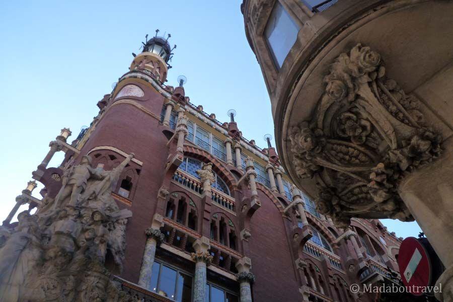 Exterior del Palau de la Música de Barcelona