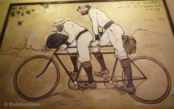 Uno de los murales de Ramon Casas en Els 4 Gats