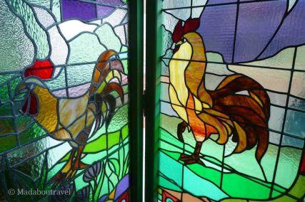 Detalle de la vidriera de la Casa Lleó Morera