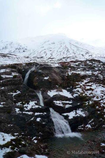 Una cascada en el valle de Glencoe