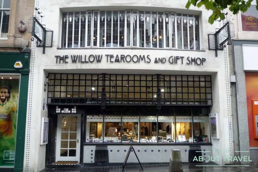 Fachada de Willow Tea Rooms de Mackintosh