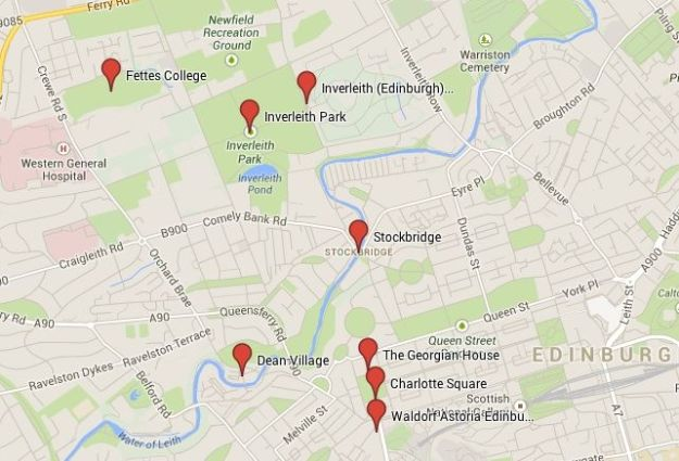Mapa Ruta Edimburgo Verde