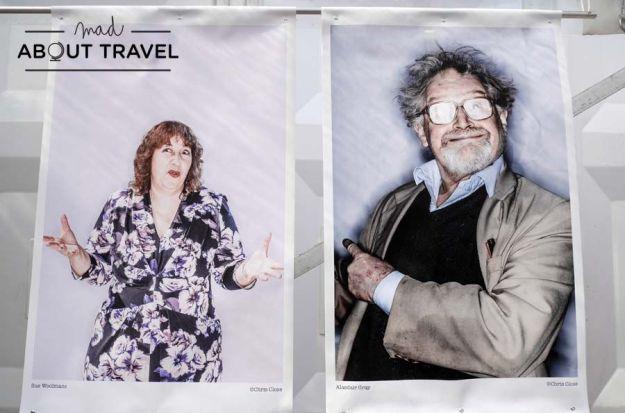Fotos de escritores en el Festival Internacional del Libro de Edimburgo