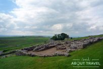 Paisajes dramáticos en Nortumbria junto al Muro de Adriano