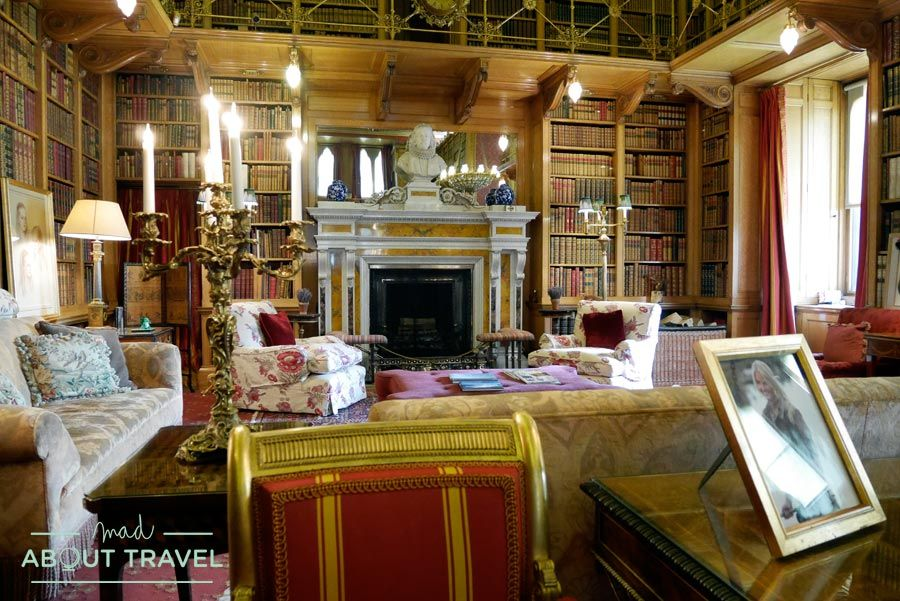 Drawing room en el castillo de Alnwick, Nortumbria, Inglaterra