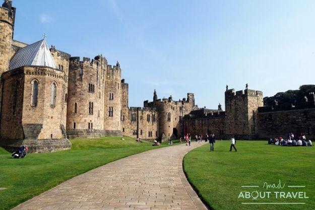 Castillo de Alnwick en Nortumbria, Inglaterra