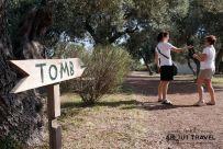 De camino al túmulo funerario de Maratón