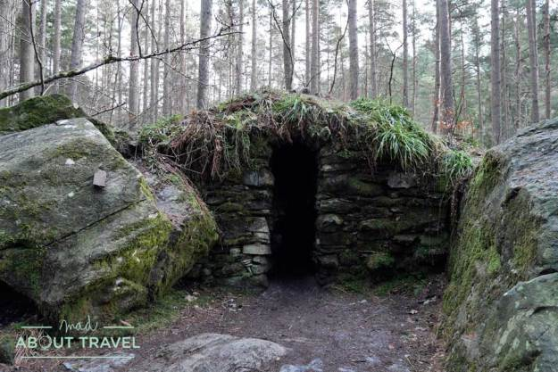 La cueva de Ossian en el Hermitage de Dunkeld