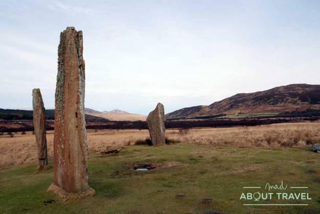 Círculo de piedras en Machrie Moor en la isla de Arran