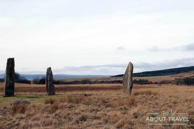 Círculo de piedras en Machrie Moor, en la isla de Arran