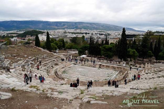 Teatro de Dioniso en la Acrópolis de Atenas