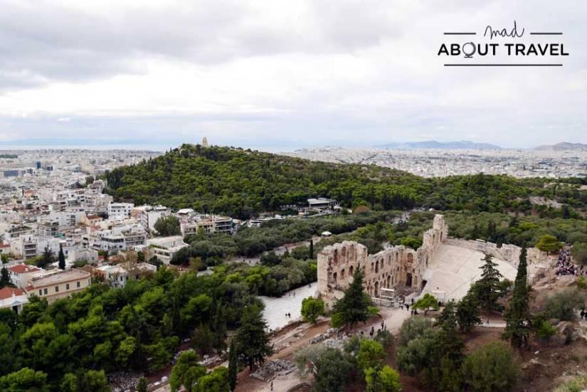 Vistas de Atenas desde la Acrópolis