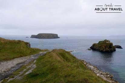 Vistas desde la cantera de Larrybane en Irlanda del Norte