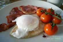 Desayuno escocés en el Glenisle Hotel en Lamlash la isla de Arran