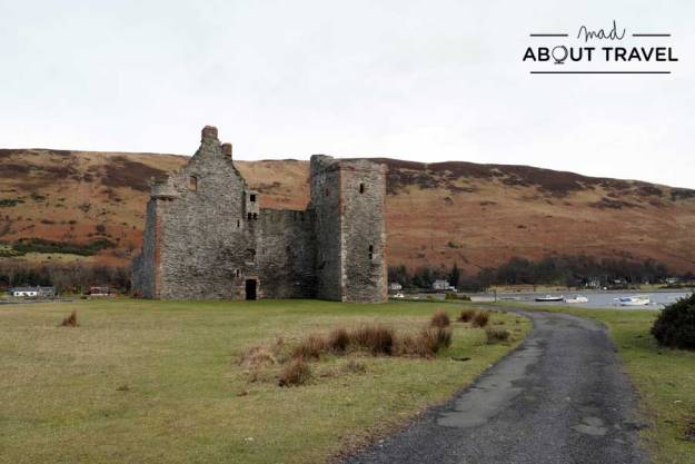 Castillo de Lochranza en la isla de Arran