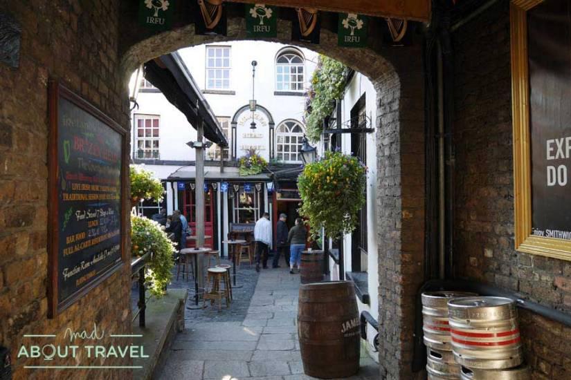 The brazen head pub in Dublin