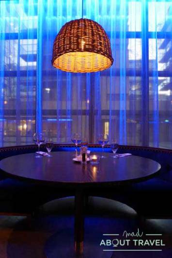Cena en East Restaurant en The Spencer Hotel