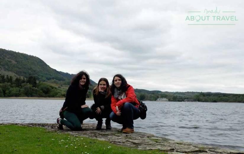 Con Lorena y Alba en el Priorato de Inchmahome