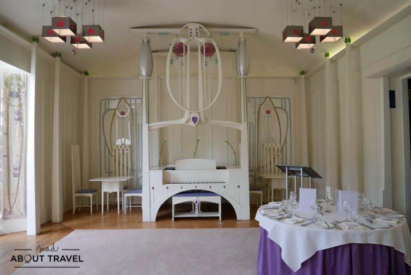 Interior de la House for an Art Lover de Mackintosh en Glasgow
