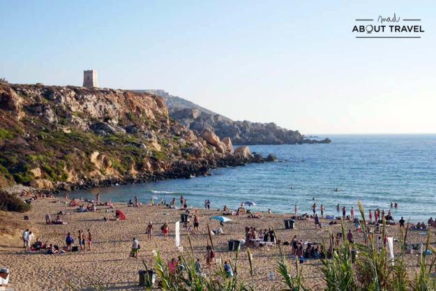 Playa Golden Bay en Malta