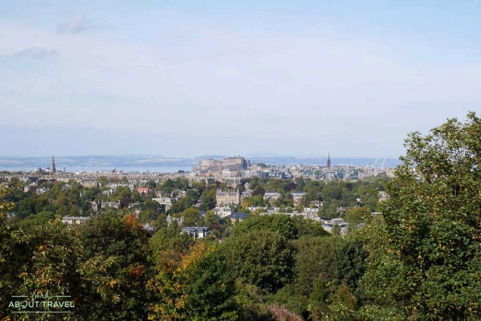 Vistas de Edimburgo desde el Royal Observatory