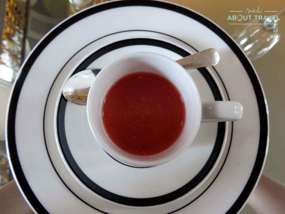 Amuse bouche del afternoon tea en la Signet Library