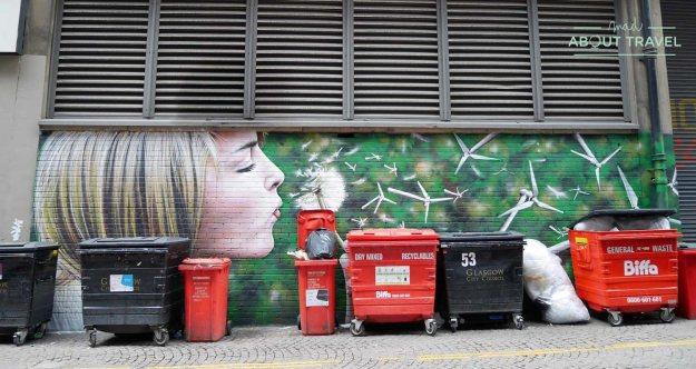 ruta de arte urbano de Glasgow