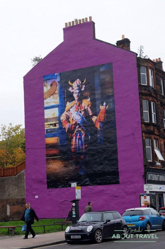 ruta de arte urbano en glasgow: mural de billy connolly