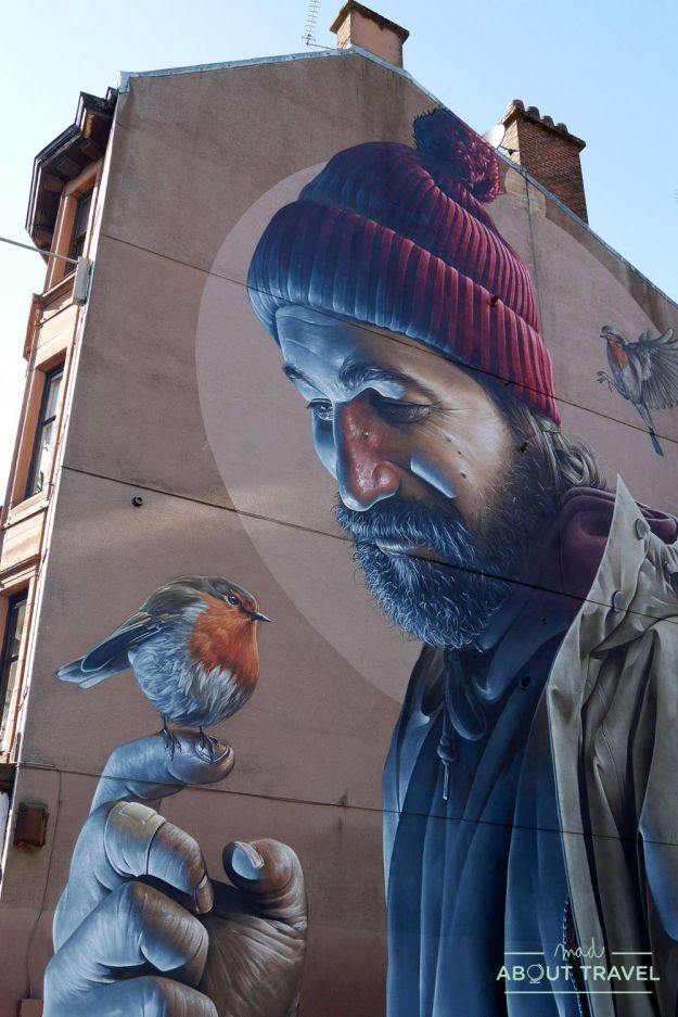 ruta de arte urbano glasgow: mural de san mungo