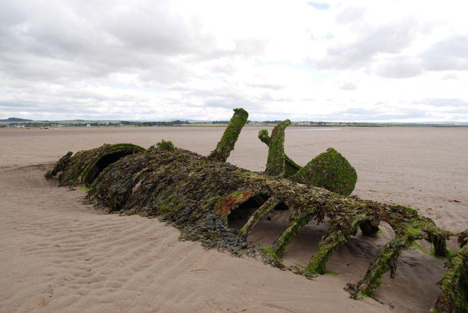 submarino de la II Guerra Mundial en la bahía de aberlady
