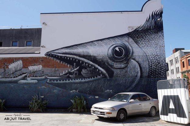 Arte urbano en Dunedin
