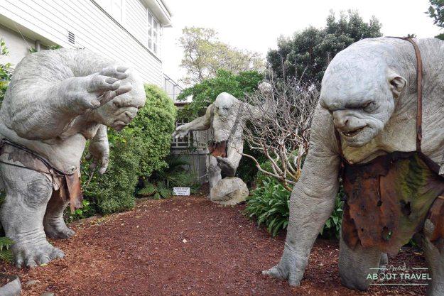 Ogros en la Weta Cave en Wellington