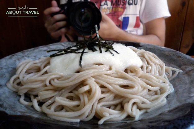 comida japonesa en Tsumago