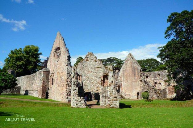 Abadía de Drybyrgh en los Borders de Escocia