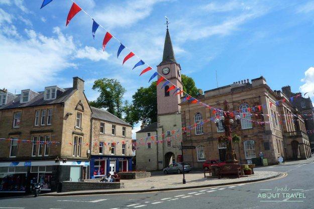 Centro histórico de Jedburgh en Escocia