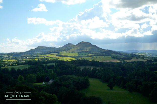 Scott's view en los borders de Escocia