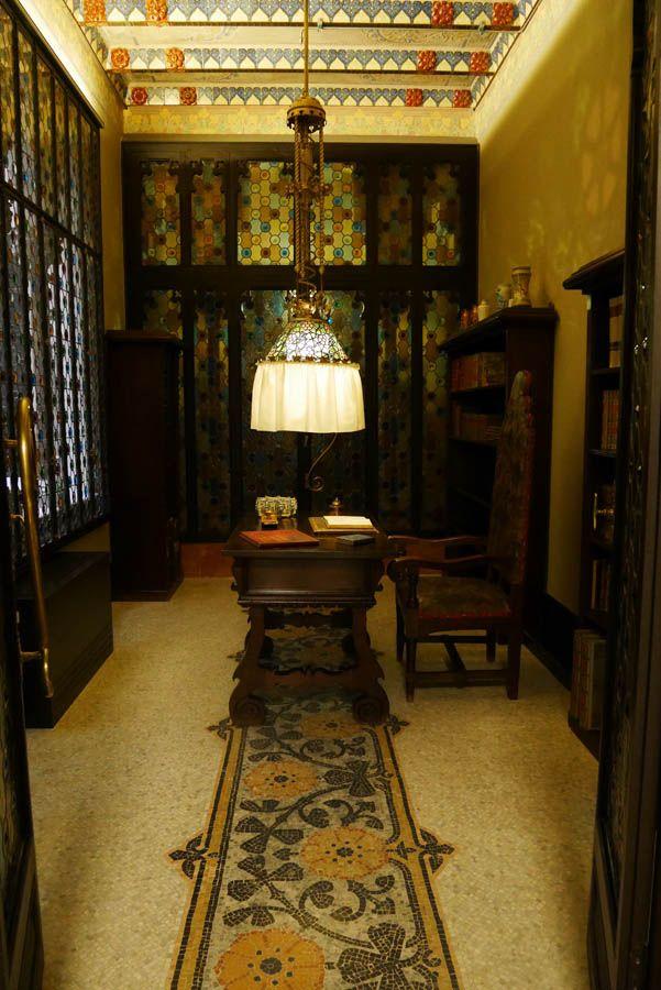 despacho de antoni amatller en la casa amatller de barcelona