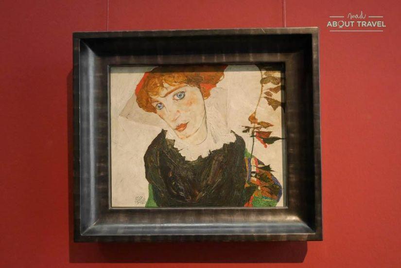 cuadro de egon schiele en el Museo Leopold de Viena