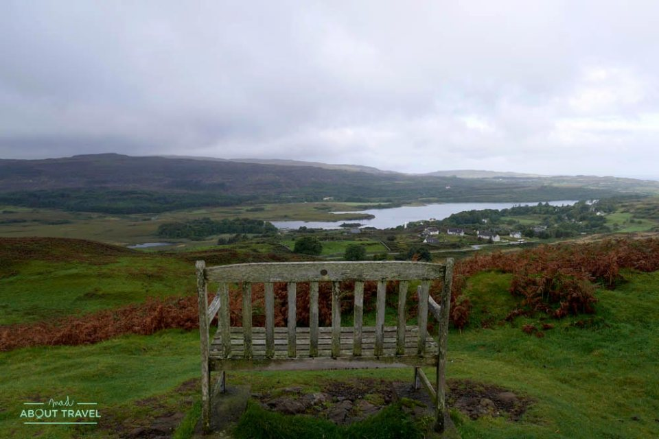 vistas de Dervaig en la isla de Mull