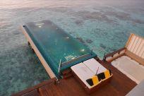 in ocean villas en el resort angsana velavaru en maldivas