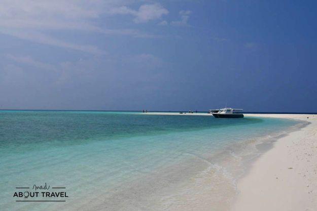 excursion a un banco de arena en maldivas